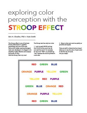 Exploring Color Perception With the Stroop Effect