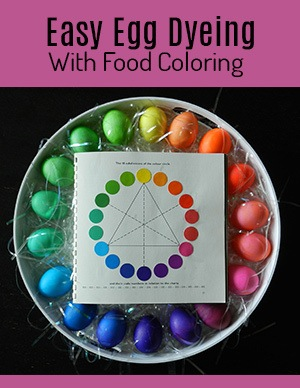 Egg Dyeing With Food Coloring